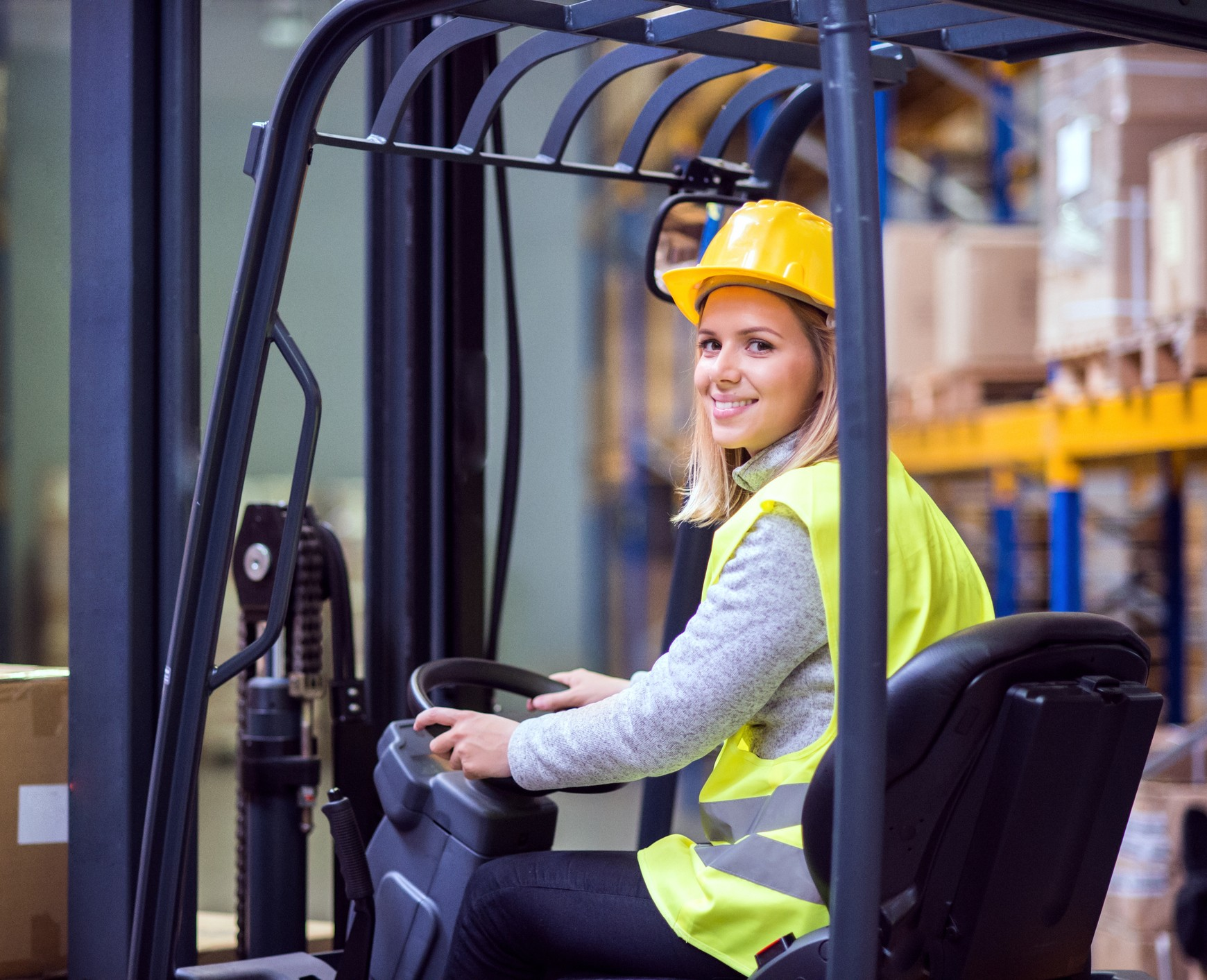 forklift woman