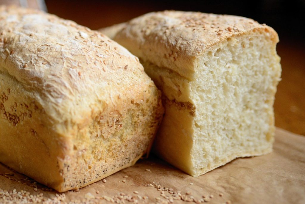 White Wheat Bread Loaves
